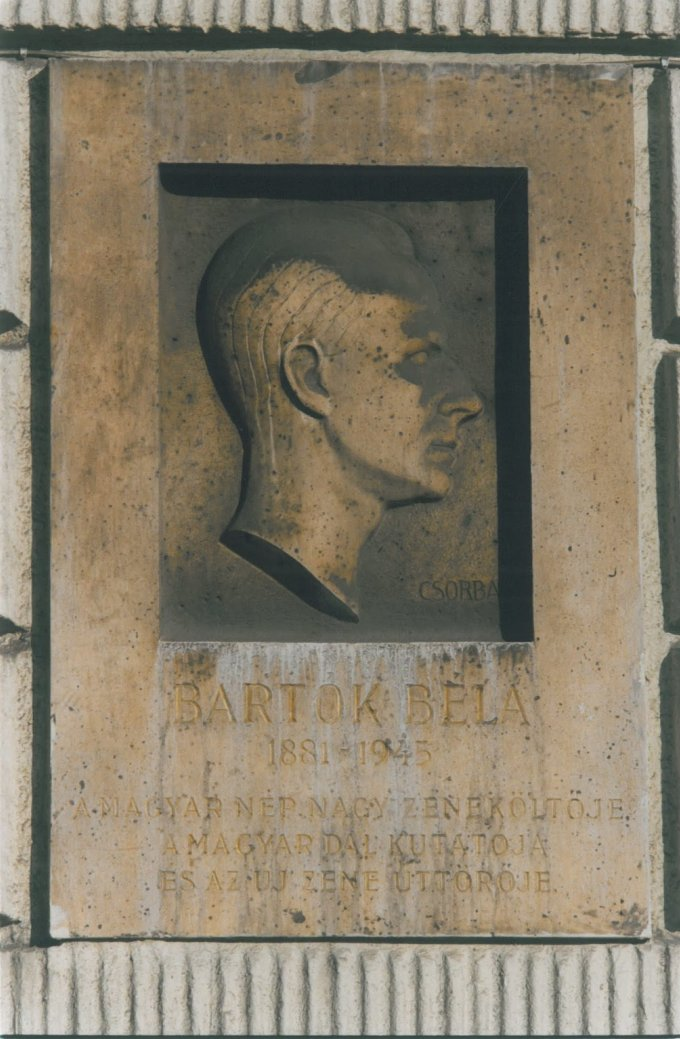Bartók Béla emléktábla