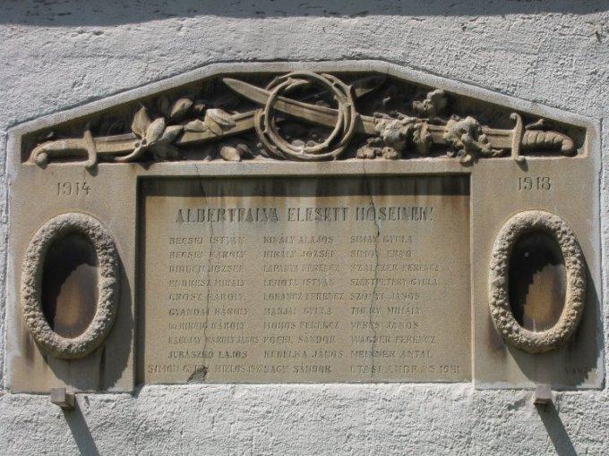 Albertfalvi hősi emlék
