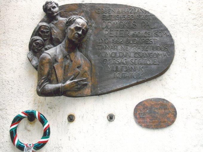 Domokos Pál Péter emléktábla