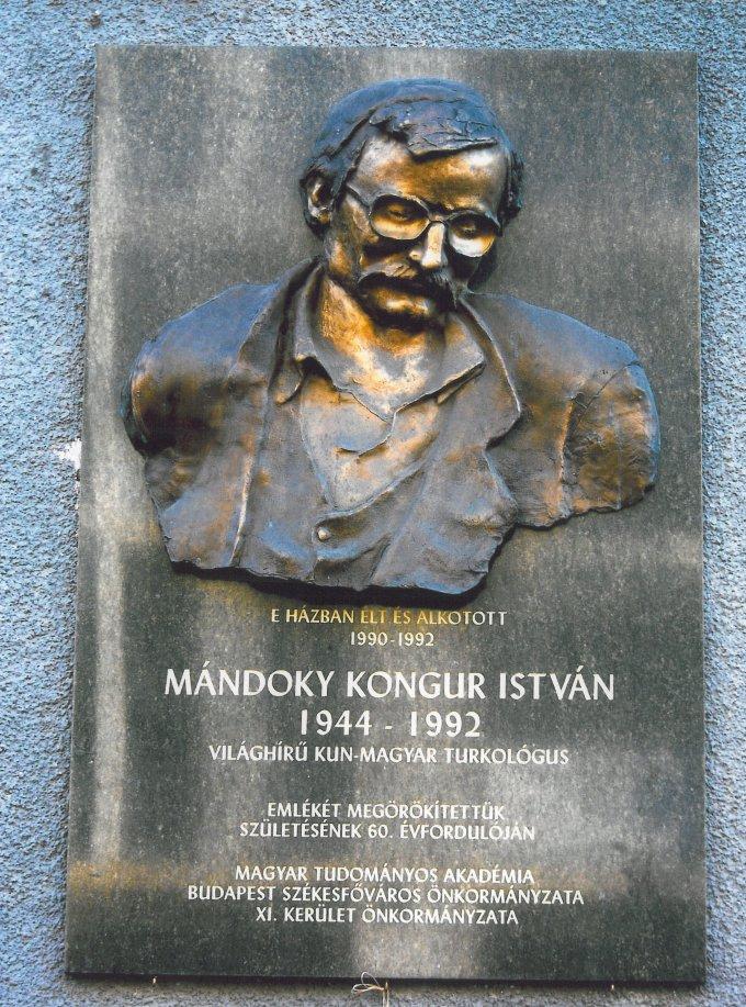 Mándoky Kongur István emléktábla