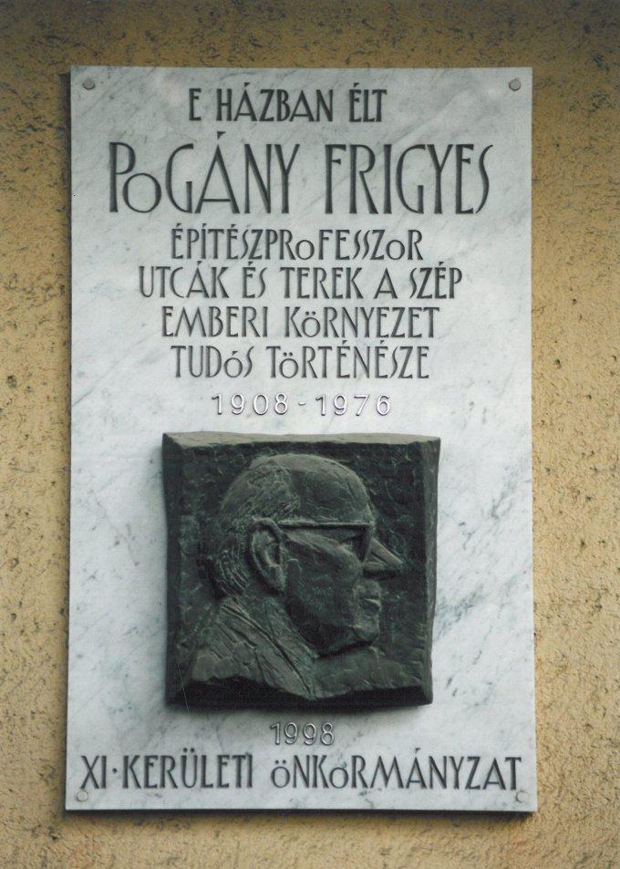 Pogány Frigyes emléktábla