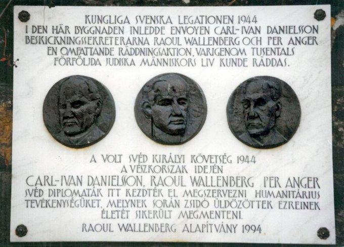 Raul Wallenberg,Carl-Ivan Danielson,Per Anger emléktábla