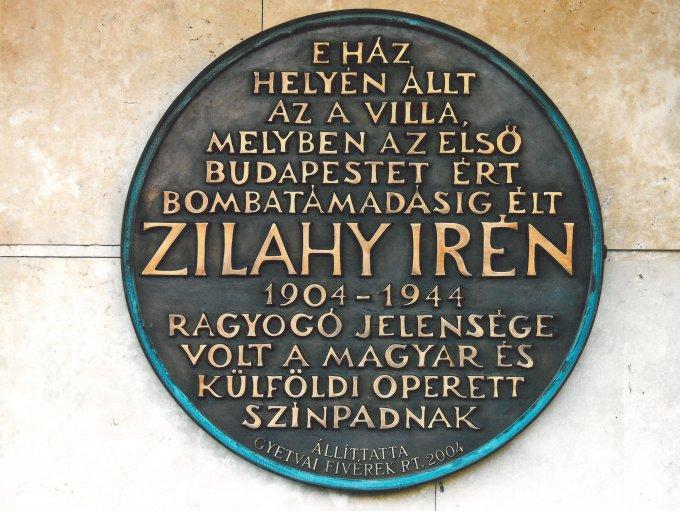 Zilahy Irén emléktábla