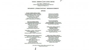 XXXIX. Bárdos Lajos Zenei Hetek